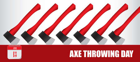 Card for event june day International Axe Throwing Day