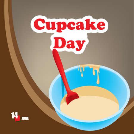 A festive event celebrated in june - Cupcake Day