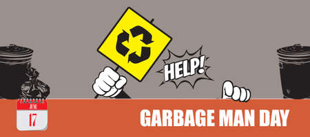 Card for event june day Garbage Man Day