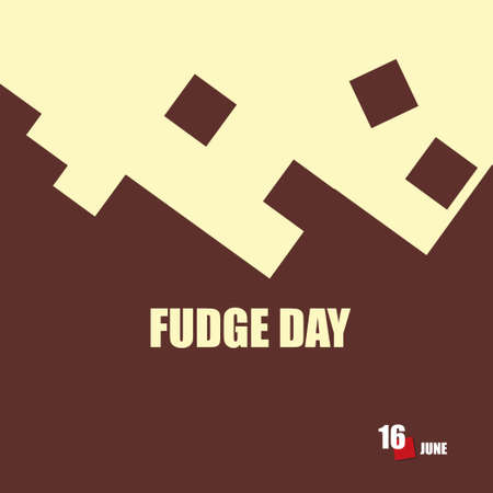 The calendar event is celebrated in june - Fudge Day
