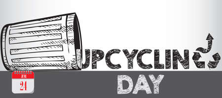 Card for event june day Upcycling Day Çizim