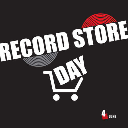 The calendar event is celebrated in june - Record Store Day Çizim