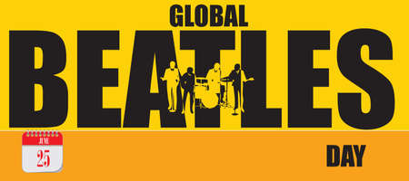 Card for event june day Global Beatles Day Çizim