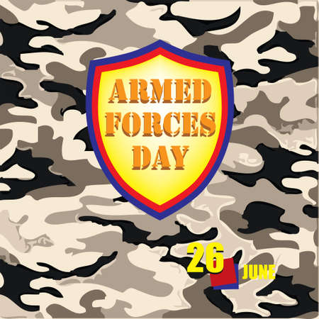 The calendar event is celebrated in june - Armed Forces Day