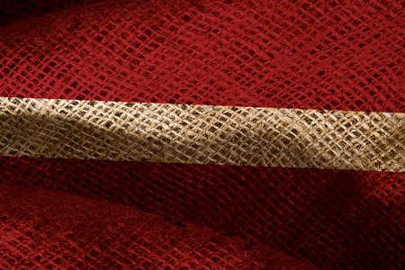 The state flag of coarse fabric Latvia