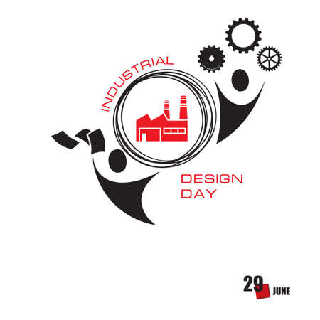 The calendar event is celebrated in june - World Industrial Design Day Çizim