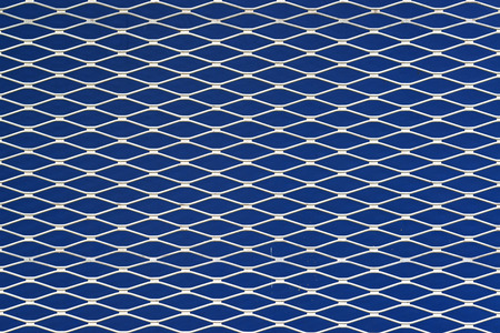 Blue and white seamless texture. structure of the mesh fence background.
