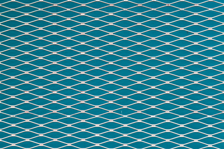 Light blue and white seamless texture. structure of the mesh fence background.