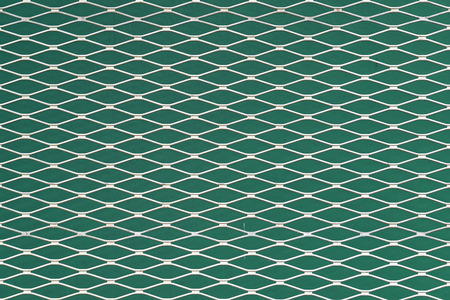 Teal and white seamless texture. structure of the mesh fence background. Stock Photo