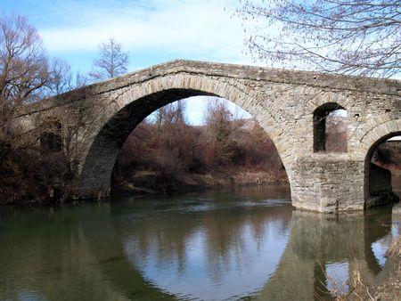 bridged: Stone bridge over creek
