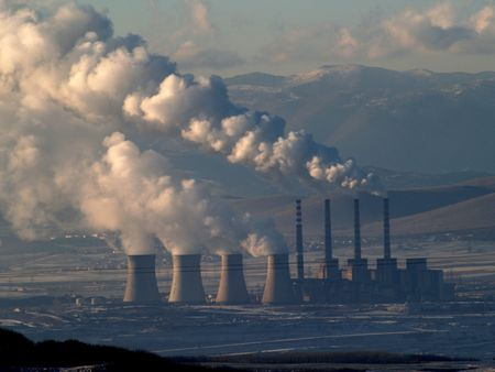 Smoking power station chimneys Stock Photo - 7692811
