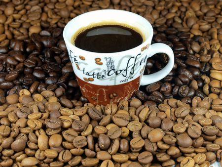 Cup with coffee photo