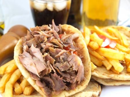 pita: Greek Gyros or kebab