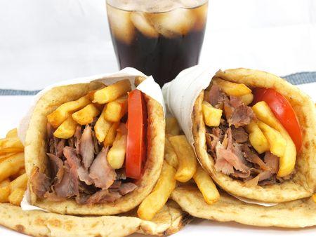 gyros: Greek Gyros or kebab