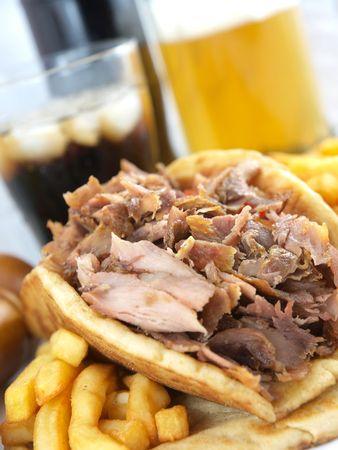 Greek Gyros or kebab  photo