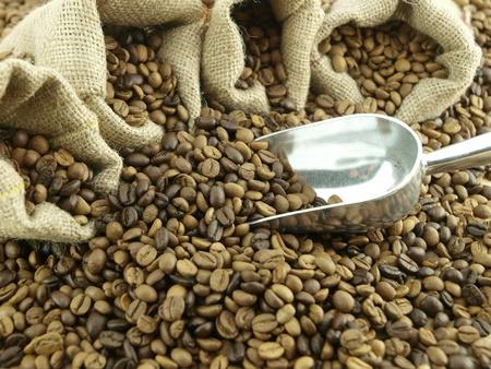 bean bag: Coffee beans
