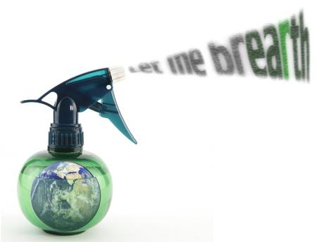 enviroment: Spray bottle Stock Photo