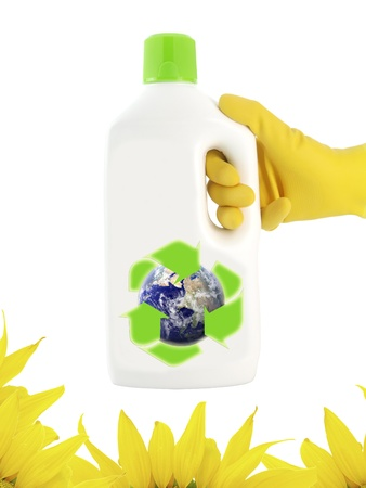 ecological: Cleaning ecological product  Stock Photo