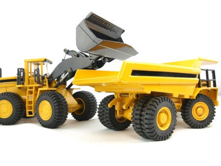 Wheel loader and loading dumper Stock Photo - 8436615