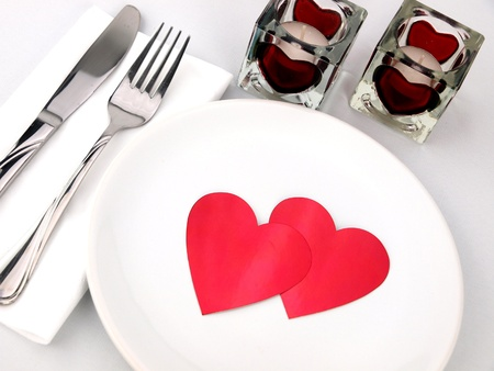 Inviting table for romantic meal photo