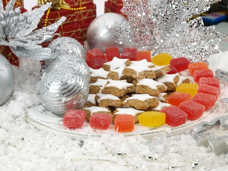 sugarplum: The Christmas sweets on the table Stock Photo