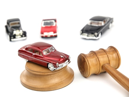 Gavel auction with antiques cars Stock Photo - 9102725