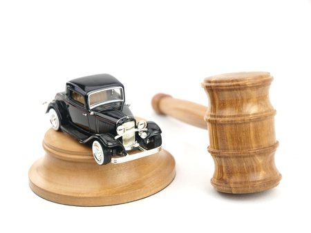 Gavel auction with antique car photo