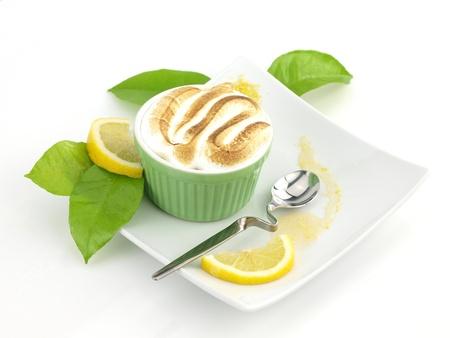 pie de limon: Pastel de merengue de lim�n en una taza
