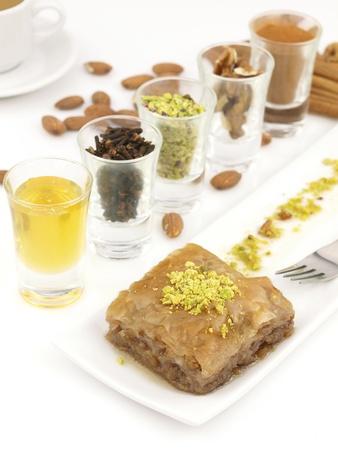 baklava: Mediterranean traditional sweet dessert baklava