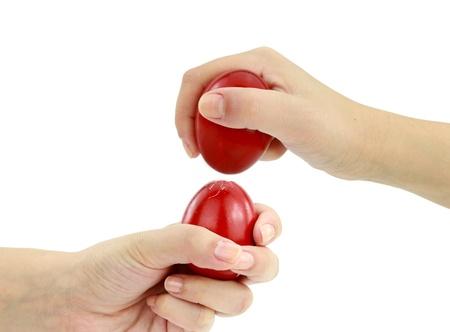 orthodox: Eggs Cracking, an Easter custom Stock Photo