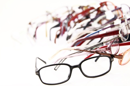 Collection of modern medical eyeglasses