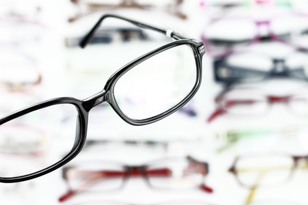 ophthalmic: A pair of modern medical eyeglasses