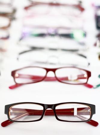 glass eye: Collection of modern medical eyeglasses