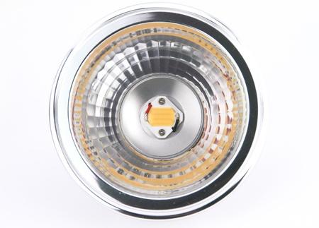 led light: LED light bulbs over white background