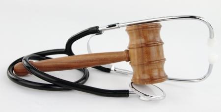 Judge's Gavel and stethoscope  photo
