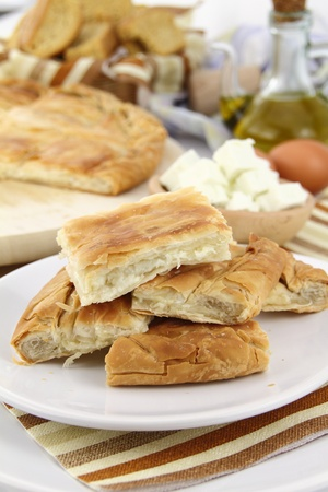 Homemade puff cheese pie with filo pastry Stock Photo - 9675890