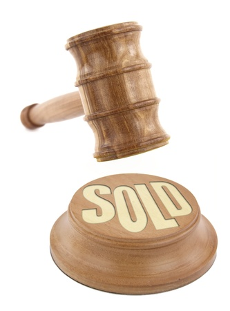 auction gavel: Auction concept with  wooden gavel Stock Photo