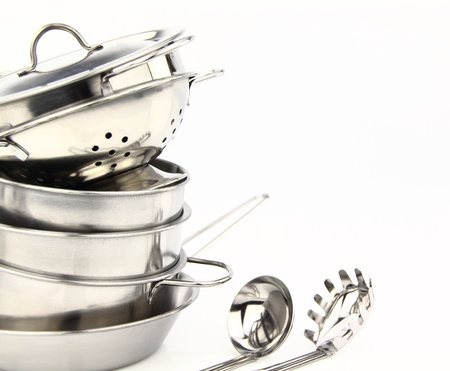 Group of stainless steel kitchenware  photo