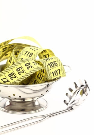 Tape measure inside a strainer  photo