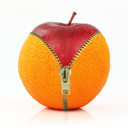 unzip: Fruits and diet against cellulite Stock Photo