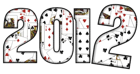 2012 design with playing cards  Stock Photo - 10144169