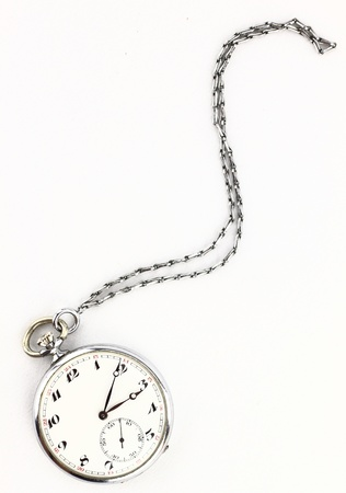 Antique pocket clock with chain photo
