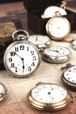 Retro pocket clock Stock Photo - 15544556