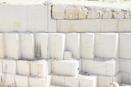 Large Greek white marble quarries   photo