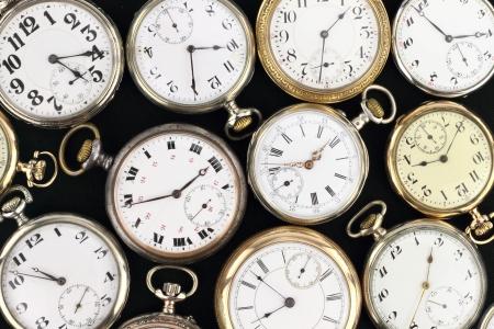 winder: Retro pocket clock Stock Photo