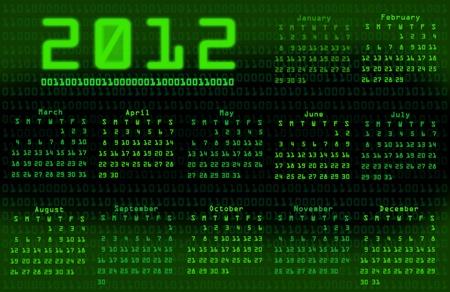 Binary code calendar 2012 photo