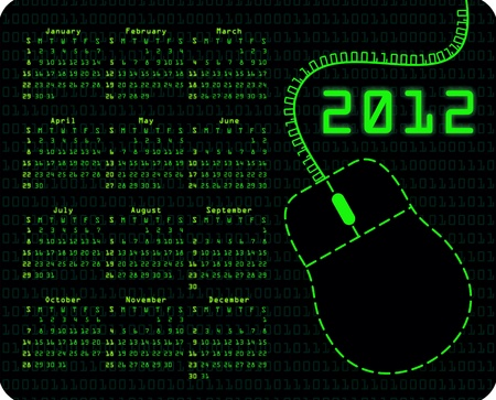 bin�rcode: Bin�r-Code Kalender auf Mousepad Lizenzfreie Bilder