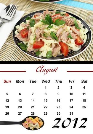 Monthly Pasta Calendar. August 2012 photo