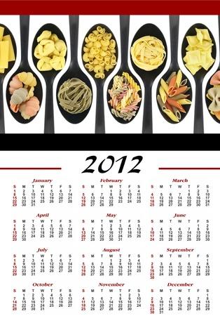 Pasta calendar 2012 photo