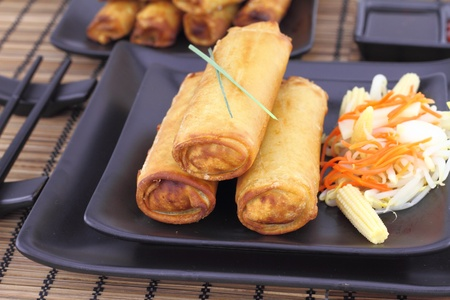 Spring rolls on a plate  photo